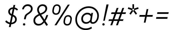 U8 Light Italic Font OTHER CHARS