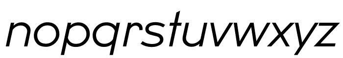 U8 Light Italic Font LOWERCASE