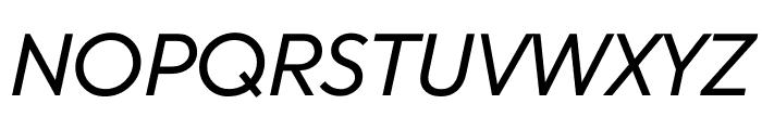 U8 Regular Italic Font UPPERCASE