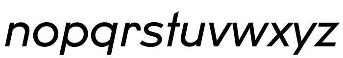 U8 Regular Italic Font LOWERCASE