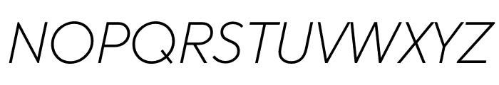 U8 Thin Italic Font UPPERCASE