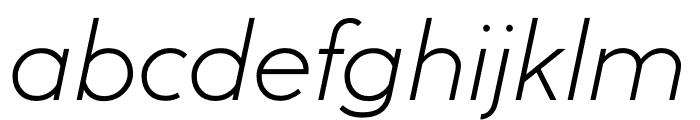 U8 Thin Italic Font LOWERCASE