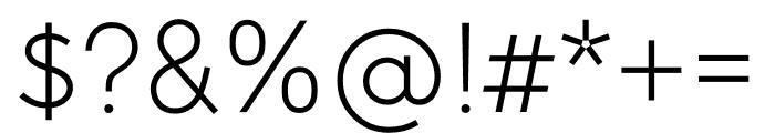 U8 Thin Font OTHER CHARS