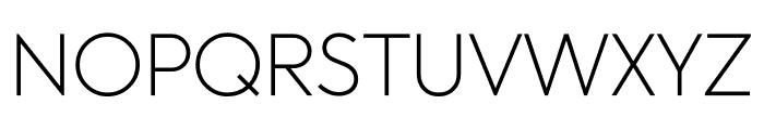 U8 Thin Font UPPERCASE