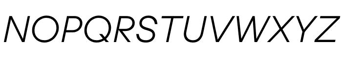 UCity Light Italic Font UPPERCASE