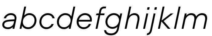 UCity Light Italic Font LOWERCASE