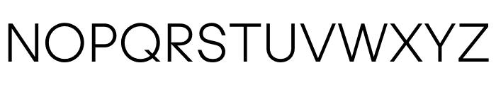 UCity Light Font UPPERCASE