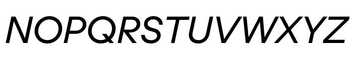 UCity Regular Italic Font UPPERCASE