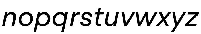 UCity Regular Italic Font LOWERCASE