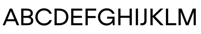 UCity Regular Font UPPERCASE