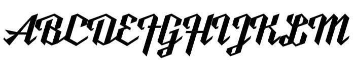 Ut Nickel Font UPPERCASE