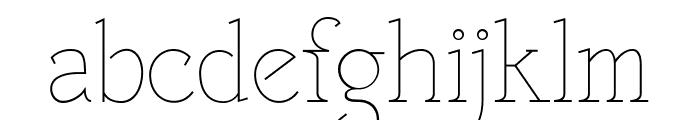 VTF Victorianna Thin Font LOWERCASE