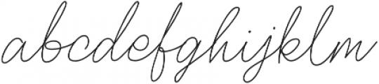 Oullifar otf (400) Font LOWERCASE
