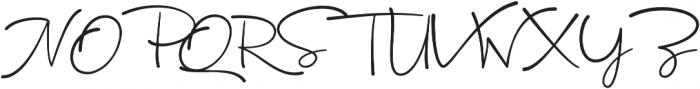 Ourense Script ttf (400) Font UPPERCASE