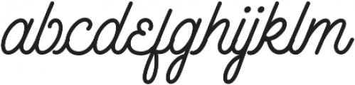Outfitter Script otf (400) Font LOWERCASE