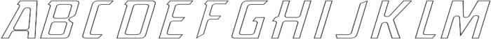 OutgunnedITALIC Outgunned otf (400) Font UPPERCASE