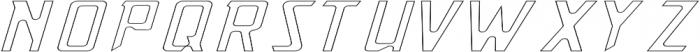 OutgunnedITALIC Outgunned otf (400) Font LOWERCASE