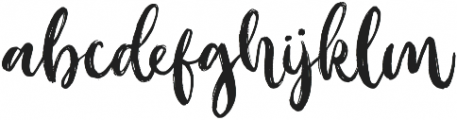 Outistyle otf (400) Font LOWERCASE