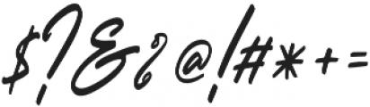 Outlander Slant otf (400) Font OTHER CHARS