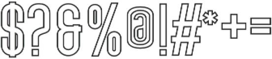 Outline Bold otf (700) Font OTHER CHARS