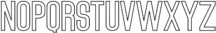 Outline Bold otf (700) Font UPPERCASE