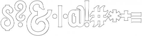 Outline otf (400) Font OTHER CHARS