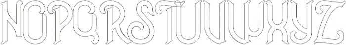 Outline otf (400) Font UPPERCASE