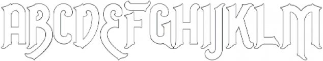 Outline otf (400) Font LOWERCASE