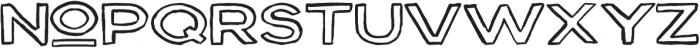 Outline ttf (400) Font LOWERCASE