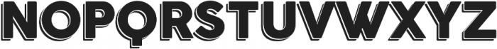 Outlined otf (400) Font UPPERCASE