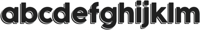 Outlined otf (400) Font LOWERCASE