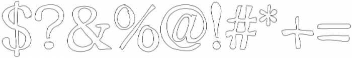 Outlined ttf (400) Font OTHER CHARS