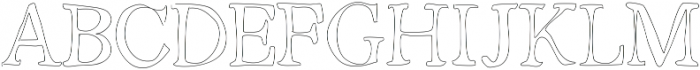 Outlined ttf (400) Font UPPERCASE