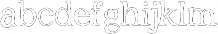 Outlined ttf (400) Font LOWERCASE
