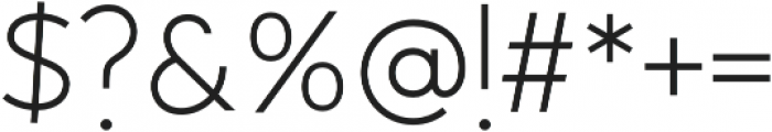 Outside Collection Sans otf (400) Font OTHER CHARS