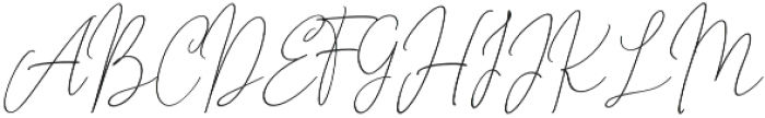 Outside Collection Script One otf (400) Font UPPERCASE