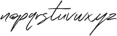 Outsmile Signature otf (400) Font LOWERCASE