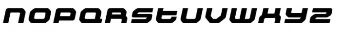 Outlander Nova Black Italic Font LOWERCASE