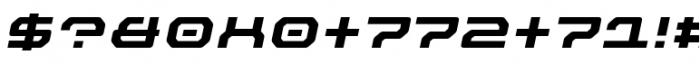 Outlander Nova Bold Italic Font OTHER CHARS