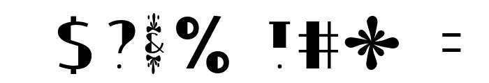 Ouijadork Font OTHER CHARS