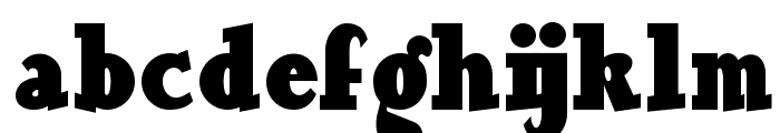 Our Gang NF Font LOWERCASE