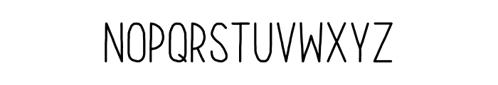 Our Hand Font LOWERCASE