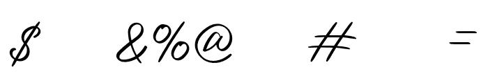 OurlasttDemoRegular Font OTHER CHARS