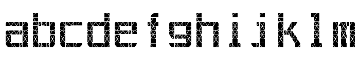Out AEG LCD Font LOWERCASE