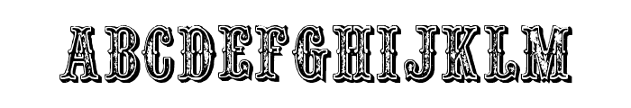 Outlaw Font UPPERCASE