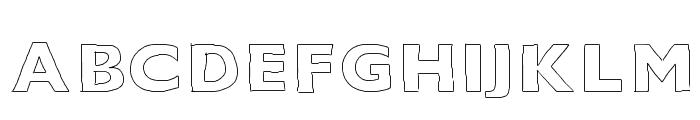 Outline Font UPPERCASE