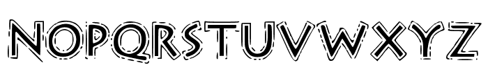 OutlineStorm Font LOWERCASE