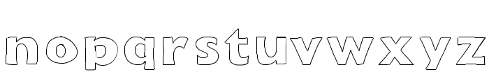 Outline Font LOWERCASE