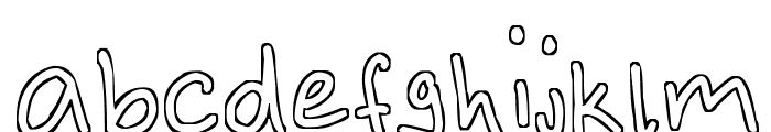 Outlines Font LOWERCASE