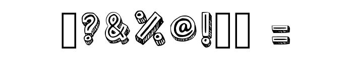 Outlyne Regular Font OTHER CHARS